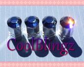 XL NAVY BLUE Crystal Bling Rhinestone Tire Valve Stem Caps Covers made w/ Swarovski Elements