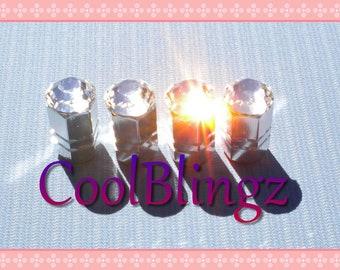 XL CRYSTAL Bling Rhinestone Tire Valve Stem Caps Covers made w/ Swarovski Elements