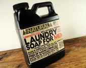 Laundry Soap for Men Gifts for Men Natural and Concentrated Liquid Castille Laundry Soap Built for a Man