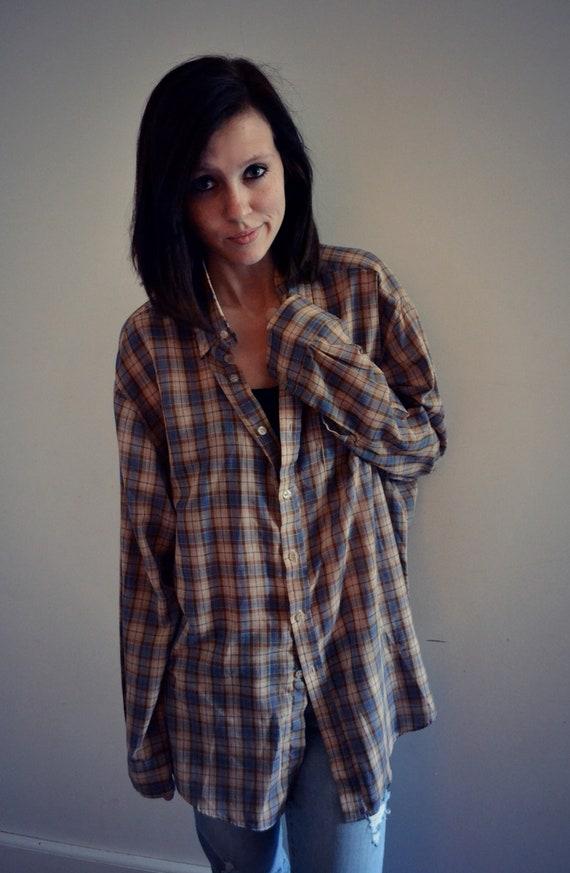 Vintage mens plaid shirt 2