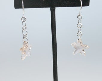 Swarovski Crystal Starfish Earrings on Sterling Silver Earwires