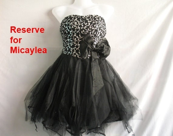 Reserve for Micaylea: Little Black Dress - Sweet Night Cocktail Dress - Romance Prom Dress