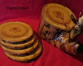 Colorado Aspen Wood Coaster Set(Snail)