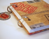 Mini Notebook - In the Mail -  Unlined Pages with 2 Tag Bookmarks