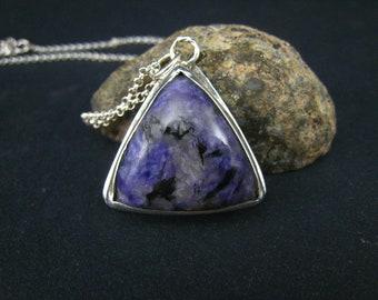 soul stone,charoite pendant