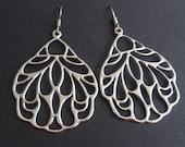 Mosaic Wing Sterling Silver Earrings - bridesmaid gifts,elegant  Wedding jewelry