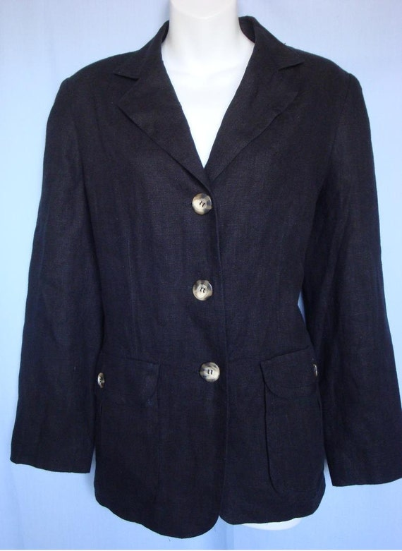RESERVED for  Kathy Harve Benard by Benard Holtzman linen Jacket Size 10