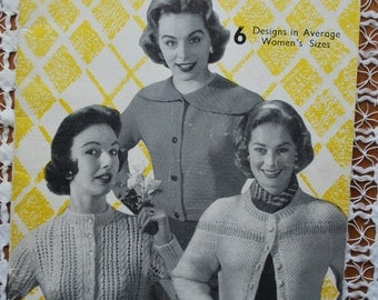 Vintage Original 1940s/1950s Knitting Book - Weldons Knitting Book No 349  - Jackets and Cardigans - NOT a reproduction. # 6