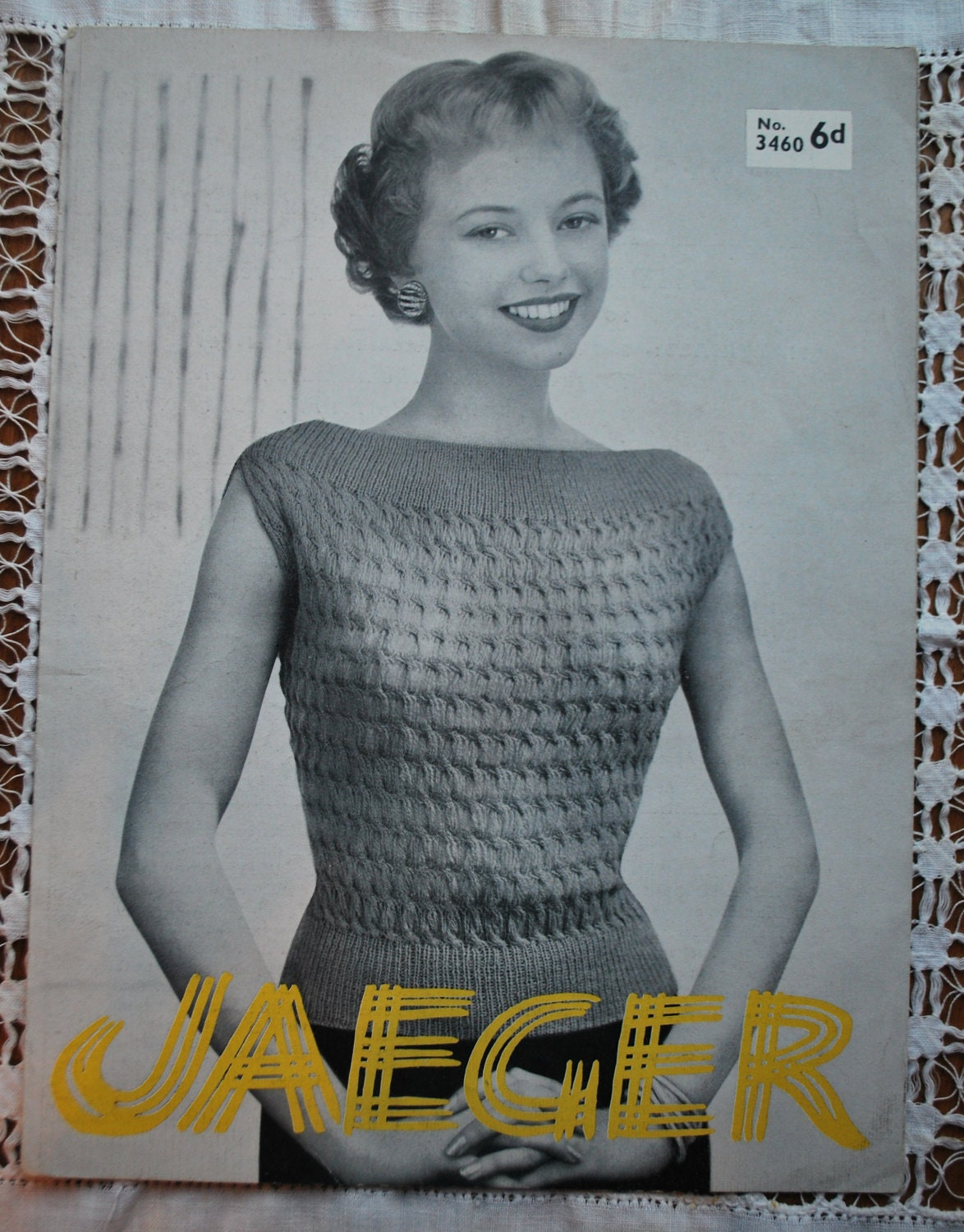 Original vintage jaeger knitting pattern not pdf leaflet no sold by devonarcadia bankloansurffo Images