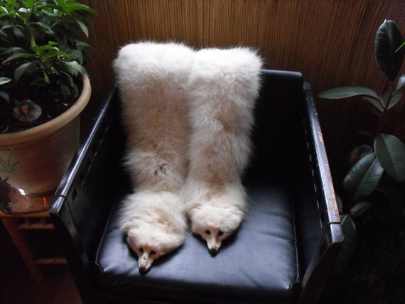 RESERVED for Thomas 1930s White Arctic Fox Boa Hollywood heyday glamour Rare Double Fox