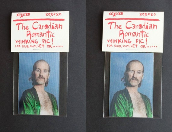 The Canadian Romantic Winking Wallet Sized Photo