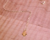 Dainty Gold Hand of Fatima Necklace