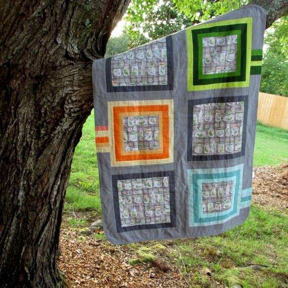 Modern Baby Blanket, Modern Receiving Blanket, Bugs Blanket