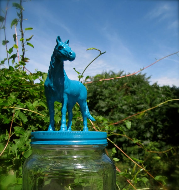 Turquoise Horse Cookie Jar