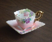 Vintage 1940s Square Tea Cup and Saucer Occupied Japan