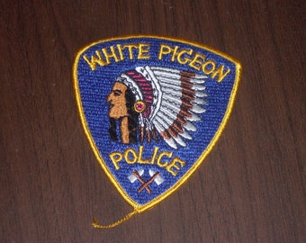 Vintage White Pigeon Police Patch 1970s