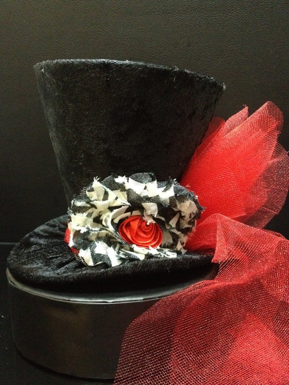Circus Ring Leader Mini Top Hat for Birthday Party, Wedding. Bachelorette Party, Bridal Shower, Tea Party or Photo Prop