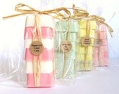 Soap sampler set 4 pack: teachers gift, mini soap sets, guest soaps, handmade soap