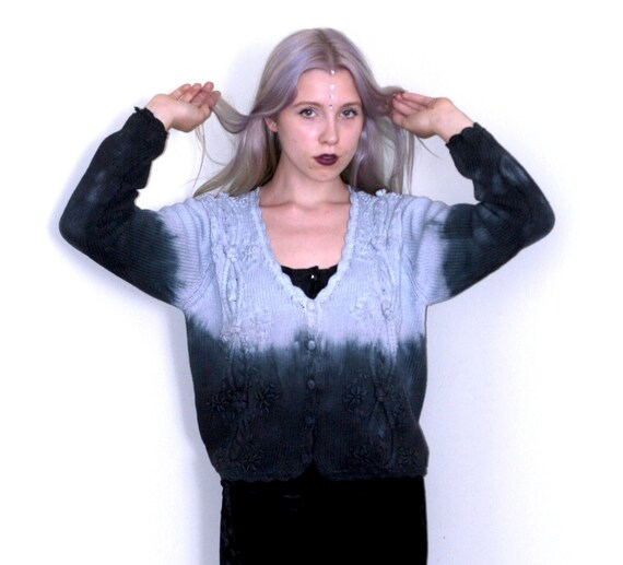 Reserved Dip Dyed Cotton Cardigan