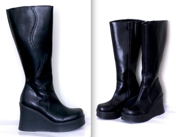 Amazing Knee High Platform Boots (37, 7.5)