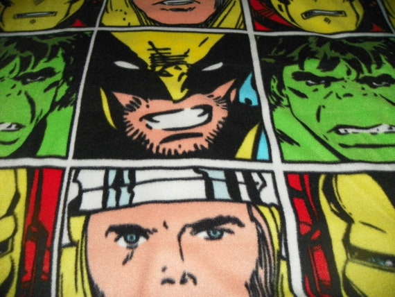 Marvel  Character Fleece Fabric Sold by the Piece 75in x 26