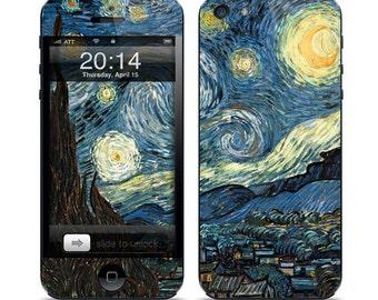 Apple iPhone 3G / 3GS, iPhone 4 / 4s, iPhone 5 / 5s, iPhone 5c, iPhone 6, iPhone 6 Plus Decal Skin Cover - Van Gogh Starry Night