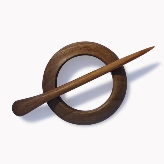 Wooden Shawl Pin Wood Carving MariyaArts