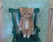 Sweet Mini Antique Style Orange Tabby Kitty Cat by SReetz