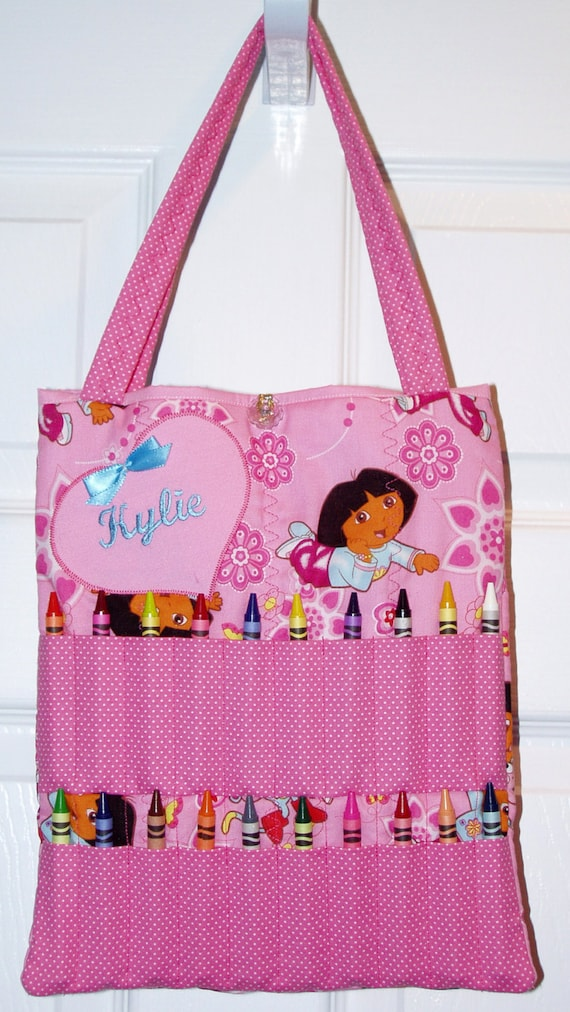 Personalized Dora The Explorer Coloring Bag Great Gift Idea