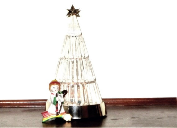Crystal christmas tree avon twinkling lights