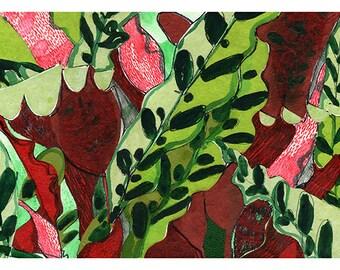 Sing Red Giclée Print A4