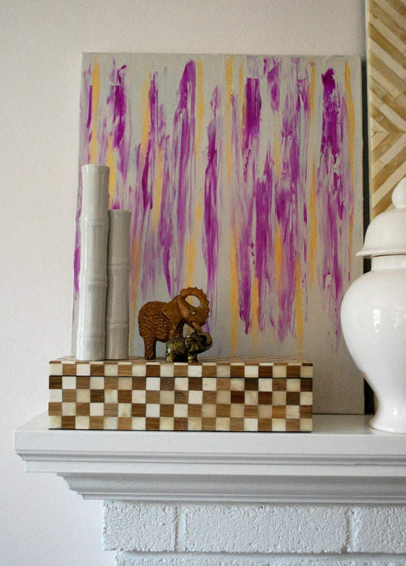 Purple Rain 16 x 20 Abstract Painting