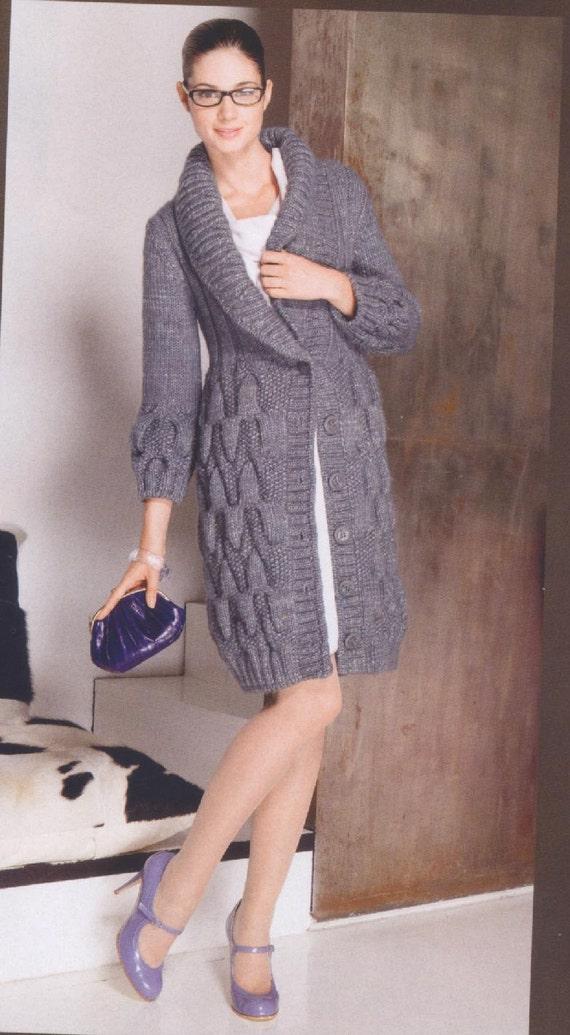 ساخته شده به سفارش دست گره ژاکت کش باف پشمی، ژاکت، کت - کت پشم مرینوس