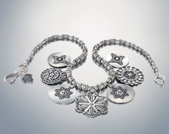 Bib Necklace Statement, Silver Statement Necklace, Bold Necklace, Sterling Silver Necklace, Coin Necklace, Artisan Necklace, Ethnic Jewelry