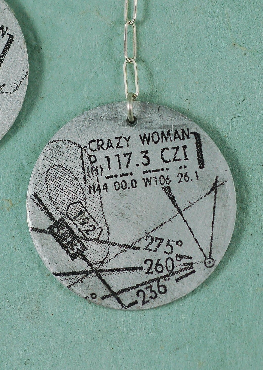 Aviation Sectional Earrings Crazy Woman by SidecarSisterDesigns