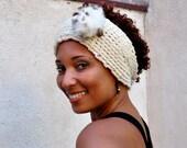 Crochet Headwrap Fall Ear-warmer Chunky Winter Headband, Lady's Turban