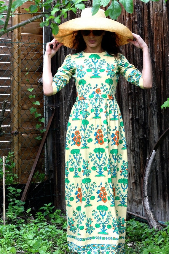 RESERVED 70's Long Dress LANVIN