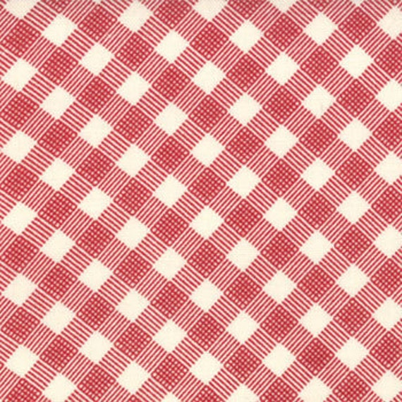 Mama Said Sew in Apple Red Gingham by Sweetwater for Moda - One Yard - 5495 11