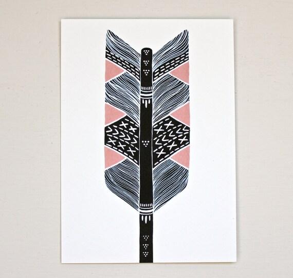 Arrow Painting - Bow and Arrow Art - Archival Print - Mother's Arrow