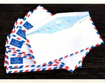 Set of 20 Vintage  Airmail  Envelopes 10.8 cm X 23 cm ,ready to use.
