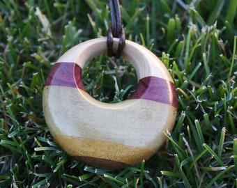 Stripped Wood Pendant J13