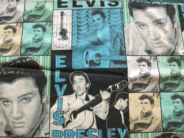 Fabric Elvis Presley Cotton Destash By Mightymadgescloset