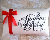Christmas Pillow, Joyeux Noel, French Country, French Country Home, Merry Christmas, Home Decor, Decorative Pillow, Holidays