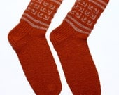 Pure wool SOCKS  with decoration -  gift WRAPPING for FREE