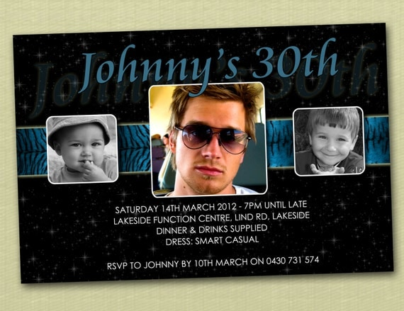 Personalised Birthday Invitations 16th 18th 21st 30th - You Print