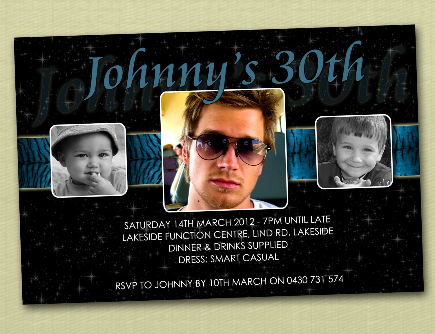 Personalised Birthday Invitations 16th 18th 21st 30th You