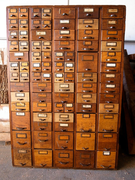 Items Similar To Card Catalog Hardware Store Cabinet On Etsy