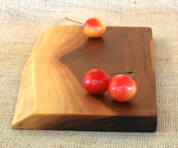 Rustic Natural Edge Wine and Cheese Serving Tray