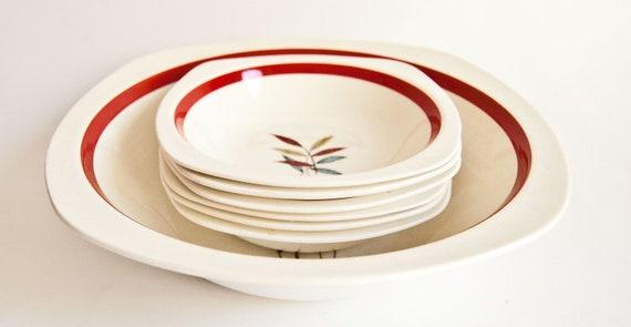 Midwinter Stylecraft Dessert Set - Hawaii Design bowls 6 small plus serving bowl