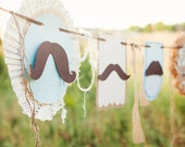 Little Man Mustache Themed Party Banner - Vintage Style